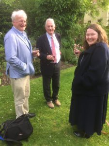 Enjoying the wine reception on a sunny evening at the Fourth Bicentennial John Keats Conference