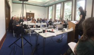 Conference in session: audience at the Fourth Bicentennial John Keats Conference