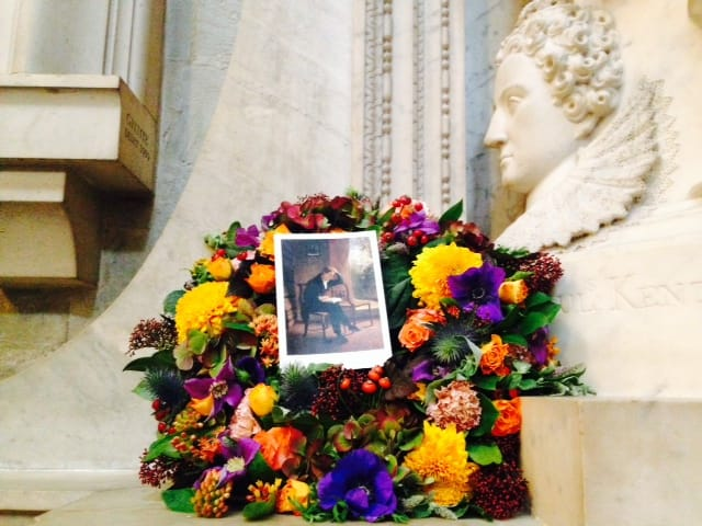 Wreath laid on John Keats's birthday
